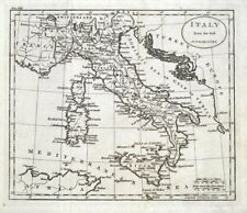 ITALY, Original Guthrie Antique Map 1793