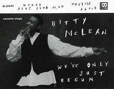 Bitty Mclean ‎We've Only Just Begun / Our Love CASSETTE SINGLE Reggae-Pop