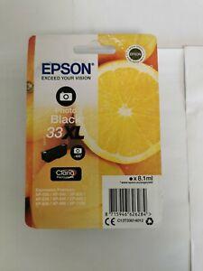 Genuine Original Epson 33XL Photo Black Ink Cartridge T3361, Dated 05/23
