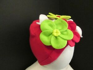 Christmas Red Flower Baby Hat by Mud Pie, New