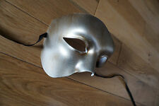 Mens bronzed silver Venetian Phantom/Half face Mask.Masquerade /Ball /Prom.UK