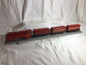 Vintage Tin Marx trains O scale 0-4-0 NYC The Mercury w/Tender & Passenger Cars
