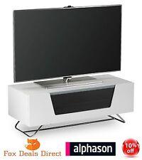 Alphason Chromium 1000 Gloss White TV Stand Cabinet And Shelf CRO2-1000CB-WHT