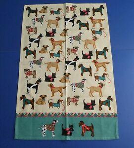 Ulster Weavers 100% Cotton Tea Towel - 'Hound Dogs' - GC