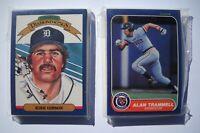 1986 Donruss & Fleer Detroit Tigers Team Set Lot (2 Sets, 48 Cards) NMMT