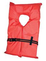 Type II Orange Life Jacket Vest PFD - Adult Universal - Coast Guard Approved