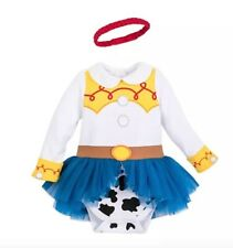 New Disney Store Toy Story Jessie Cowgirl Toddler Baby Girl Bodysuit Costume