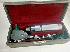 Rare Vintage Welch Allyn Ophthalmoscope Otoscope Set Case