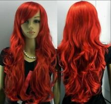 Hot Sale NEW long red curly full like human made hair wig Cosplay&Party wig H15