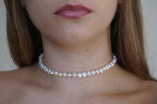 Perle Halskette 17-18inch Doppelreihen 8-9mm  grün Baroque Süßwasser