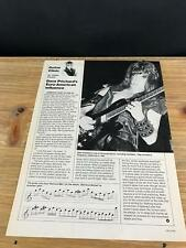 1986 Vintage 1 Page Print Article Guitar Clinic With Armored Saint Dave Prichard