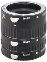 Xit XTETS Auto Focus Macro Extension Tube Set for Sony SLR Cameras (Black)