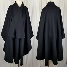 Montello Mackintosh Wool Maxi Cape Cloak Wrap Built In Scarf Womens OS One Size