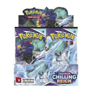 Pokemon Chilling Reign Booster Box 36 Packs Sword & Shield SWSH06 FREE SHIPPING