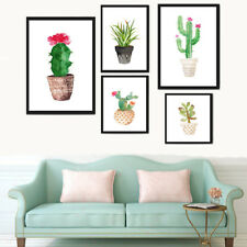 Watercolor Cactus Canvas Print Wall Art Printing Modern Home Decor Unframed
