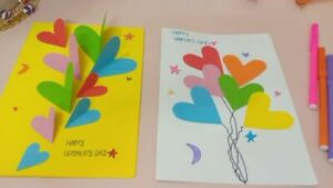 Mother's day greeting card, handmade paper card