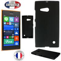 Coque Housse Silicone Noir Souple pour Nokia Lumia 730 735