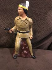 Vintage Lone Ranger Tonto Plastic Bank 1977 See Pictures