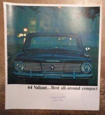 PLYMOUTH VALIANT Original 1964 USA Marketing grand format sales brochure