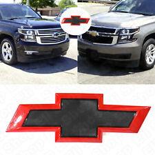 2015-2020 Chevrolet Front Black Red Bowtie Emblems fit Tahoe Suburban OEM