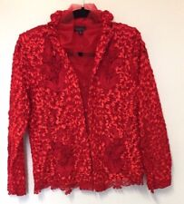 Viola Lace Red formal top size m womens