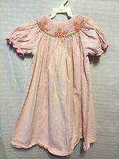 Silly Goose Girls Bishop Style Dress Hand Smocked Size 4 Ladybug Cupcake T27