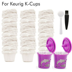i Cafilas K-CUP Paper Filters Reusable KCup Coffee Pod for Keurig 1.0 2.0 Brewer