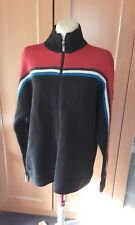 Superb vintage FCUK zipped navy and red high neck top (XL)