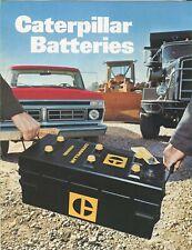 Caterpillar Batteries sales booklet