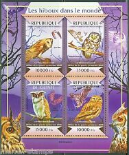 GUINEA 2015 OWLS OF THE WORLD SHEET MINT NH