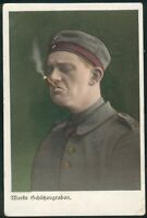 Preußen Feldpostkarte in Farbe, Marke Schützengraben