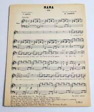 Partition vintage sheet music LES BRUMMELLS : Mama * 60's Harvel / Charron