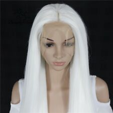 AU STOCK Heat Resistant Synthetic Lace Front White Wig Straight Cosplay Wig Hair