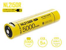NiteCore 21700 NL2150R - 5000mAh, Li-Ionen 3,7V - 3,6V - PCB geschützt mit USB