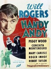 8x10 Print Will Rogers Handy Andy 1934 Poster Art #09475