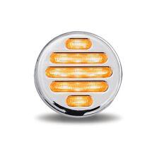 """FLATLINE 2"""" ROUND  LED  (9 LED) Amber/Clear  FREIGHTLINER  PETERBILT   KENWORTH"""