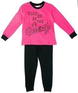 Strictly Come Dancing Girls Pyjamas Kids Nightwear Age 4 to 10 Years Pink Black