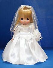 Aurora Disney Precious Moments Bride White Wedding Dress Doll Signed 5098