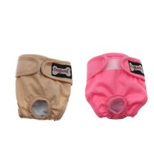 2x Reusable Dog Diapers Sanitary Pants Diaper Pad for Male Female Pet Dog