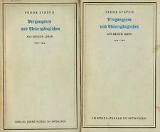 Fedor Stepun, Vergangenes + Unvergängliches, a meinem Leben 2#, signiert f Diels