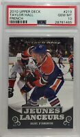 Taylor Hall 2010 Upper Deck Young Guns #219 PSA 10 Devils RC French