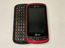 LG C395 Xpression Black/Red AT&T Slider Cell Phone w/ QWERTY Full Keyboard