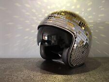 Festival Party Gold Mirror Disco ball Helmet-Retractable Visor - Medium 🕺💃
