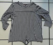 Jersey-Bluse- Stretch-Shirt gestreift schwarz-weiß street one 42