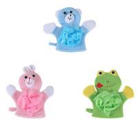 New Children Bath Shower Soft Gloves Wash Cloth Towels Baby Clean Supplies S