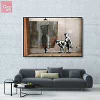 Canvas print wall art big poster Banksy Street Graffiti Dismaland Boys Mural gnb