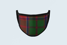 Clan Grant Tartan Face Mask Scottish Plaid Covering Green Red Polyester Mask