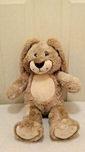 "Build A Bear Floppy Ear Bunny Rabbit Stuffed Animal Plush 16"" Beige/Brown"