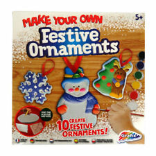 Make Paint & Glitter Your Own Christmas Tree Decorations Childrens Craft Art Kit