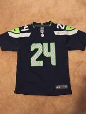 84b55dae57 Juventud grande (14 16) Nike En Campo De Seattle Seahawks Marshawn Lynch   24 Jersey